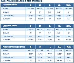 Men S Bottoms Size Chart Mens Shorts Size Guide
