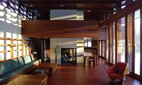 The interior of Frank Lloyd Wright's Bachman-Wilson House. Photo: Crystal  Bridges Museum