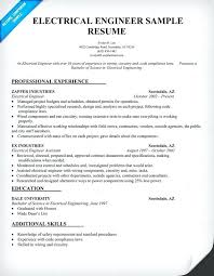Electrical Engineering Resume Samples Electrical Engineer Resume Format Electrical Engineering Sample
