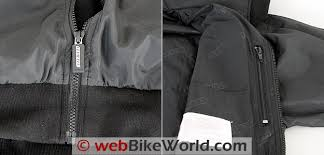 gerbing microwire heated jacket liner review webbikeworld gerbing s microwire heated jacket liner zippers