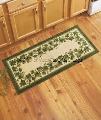 green ivy plant leaves leaf 45 nonskid kitchen runner rug mat