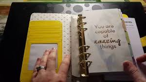 Unboxing Websters Pages Color Crush Planner In Yellow Youtube