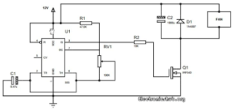 speed control of dc motor using pwm and timer circuit circuit diagram of pwm based dc fan controller