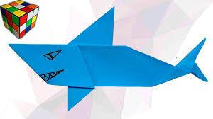 Как сделать <b>АКУЛУ</b> из бумаги. <b>Акула</b> оригами своими руками. <b>DIY</b> ...