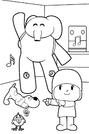 Small Picture colorear pocoyo Spanish Coloring Pages Pinterest Spanish
