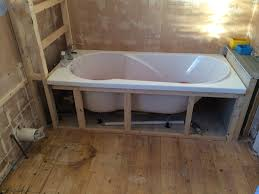 bath supporting frame before with bathroom installation in leeds