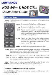 Hds 5 5m Hds 7 7m Quick Start Guide Function Keys