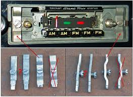 pagoda sl group technical manual electrical radio be useful for becker radios perhaps these are for blaupunkt or grundig radios also note the correct orientation of the tightening bolt on the right
