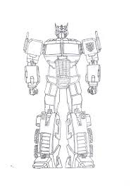 Small Picture Optimus Prime Coloring Page glumme