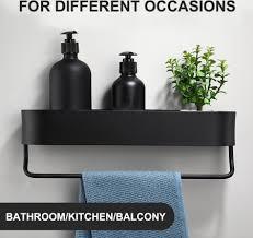 2pcs black bathroom shelf 50cm kitchen