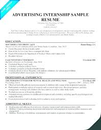 Example Of Resumes For Internships Summer Intern Resume Objective Internship Sample For Accounting