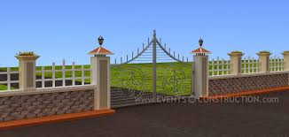 compound wall design nicely designed compound wall and gate