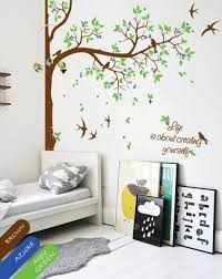 personalized tree wall decal wall decor nursery wall mural customized children room corner tree decals decoration