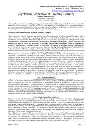 Scaffolding Definition Vygotsky Vygotskian Perspective Of Teaching