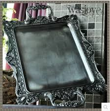Decorative Metal Serving Trays Aliexpress Buy 100100cm large size rectangle antique serving 5