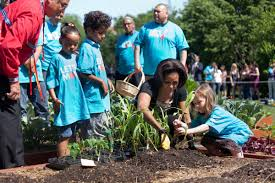 Plants For Kitchen Garden First Lady And American Indian Kids Plant White House Kitchen
