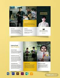 Education Brochure Templates 15 Free Educational Brochure Templates Word Psd