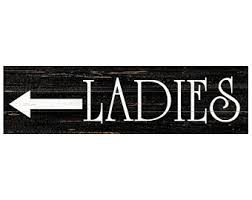 Bathroom sign with arrow Rustic Ladies Sign Restroom Sign Bathroom Sign Ladies Sign With Arrow Etsy Arrow Bathroom Sign Etsy