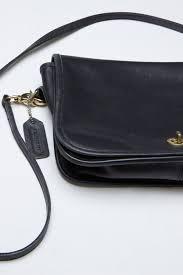 black leather coach purse 1