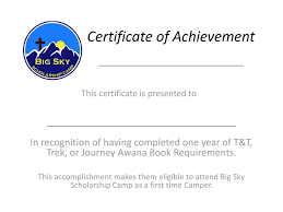 Awana Certificate Of Award Certificate Of Achievement Ppt Download