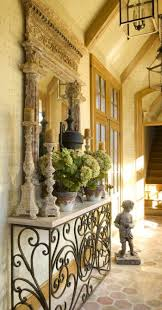 Wrought Iron Console Table, Ornate Mirror and Accessories Makes For A  Beautiful Entry.