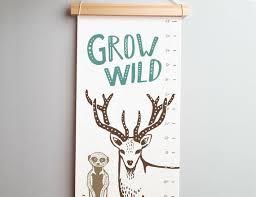 Modern Growth Chart Deer Growth Chart Kids Growth Ruler