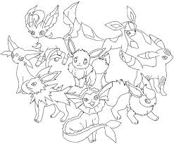 Pokemon Coloring Pages Eevee Evolutions Sylveon Mega Lucario