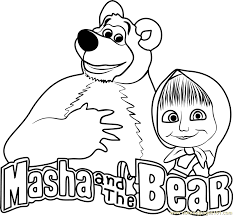 Small Picture Masha and the Bear Coloring Page Free Masha and the Bear