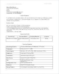 Software Testing Resume Samples For Freshers Best of Resume Experience Format Resume Format Fresher Resume Format