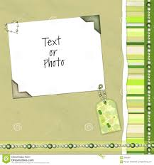 Green Layouts Green Scrapbook Layout Stock Image Image Of Bead Paper