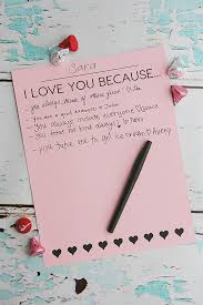 I Love You Because Print Activity Eighteen40 Bloglovin' Interesting I Love You Because
