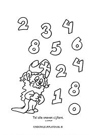 Kleurplaat Cijfers Tellen Spelletjes