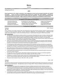 brand management objectives project management executive resume example