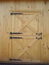 Double Shed Door Design Dutch Barn Doors How To Build Dutch Door Page To Learn