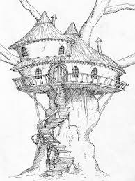 how to draw a treehouse step by step. Fine Draw Old Tree House Drawing Treehouse Pinned By Wwwmodlarcom With How To Draw A Treehouse Step By E