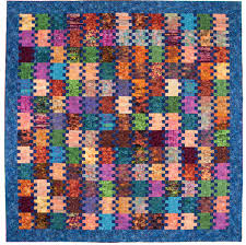 Super simple batik quilt: