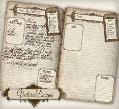diary pages printable diary pages journal pages vintage old tattered etsy