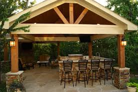 free standing covered patio designs. Vibrant Idea Free Standing Patio Cover Freestanding With Kitchen Fireplace In The Woodlands Covered Designs