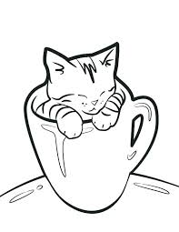 Peaceful Inspiration Ideas Printable Pictures Of Cats Cat Coloring
