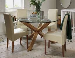 Glass top dining tables Kitchen Heart Of House Oakington Solid Oak Glass Table Ideal Home Glass Dining Tables Our Pick Of The Best Ideal Home