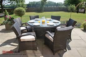 6 seater texas round table set