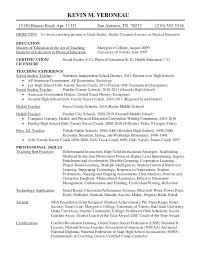 Teacher Resumes Examples Impressive School Teacher Resume Examples Middle School Teacher Resume Examples