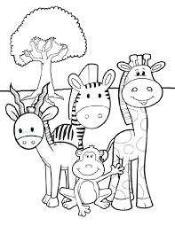 Jungle Animal Coloring Pages Printable Jungle Animals Coloring Pages
