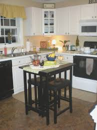 Exceptional Black Wooden Movable Kitchen Island With Stools Small Dark Butcher Block  Table Crate And Barrel Kitchen