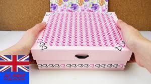 decorative storage box diy cardboard idea safe keeping for make up pens secrets