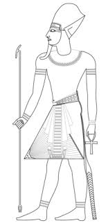 Small Picture Pharaoh with Blue Crown coloring page Free Printable Coloring Pages