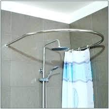 home depot curved shower rod curved corner shower rod shower curtain rods at home depot curved