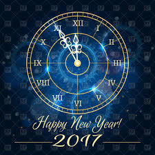 New Year Backgrounds Happy 2017 New Year Background With Blue Clock Vector Illustration