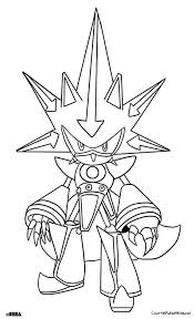 Metal Sonic Sonic Room Printable Coloring Pages Coloring