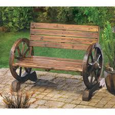 Amazon.com : Rustic Wood Design Home Garden Wagon Wheel Bench Decor :  Automotive Seat Accessories : Garden & Outdoor